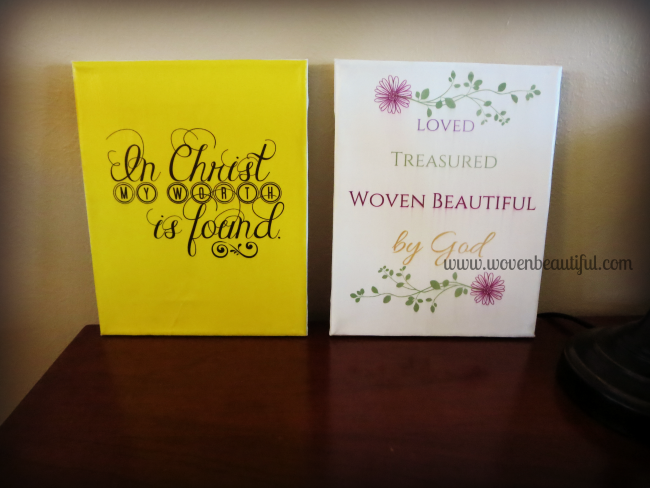 2 free printables for Woven Beautiful subscribers