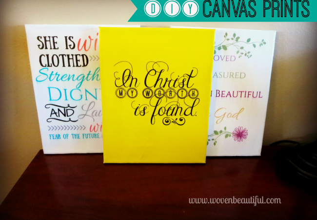 New Monthly Craft: DIY Canvas Prints