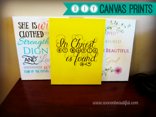 DIY Canvas Prints, Woven Beautiful