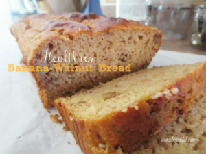 Healthier Banana Walnut Bread, Woven Beautiful