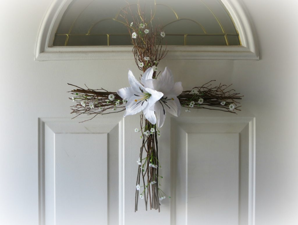 Easter Cross Wreath, Woven Beautiful